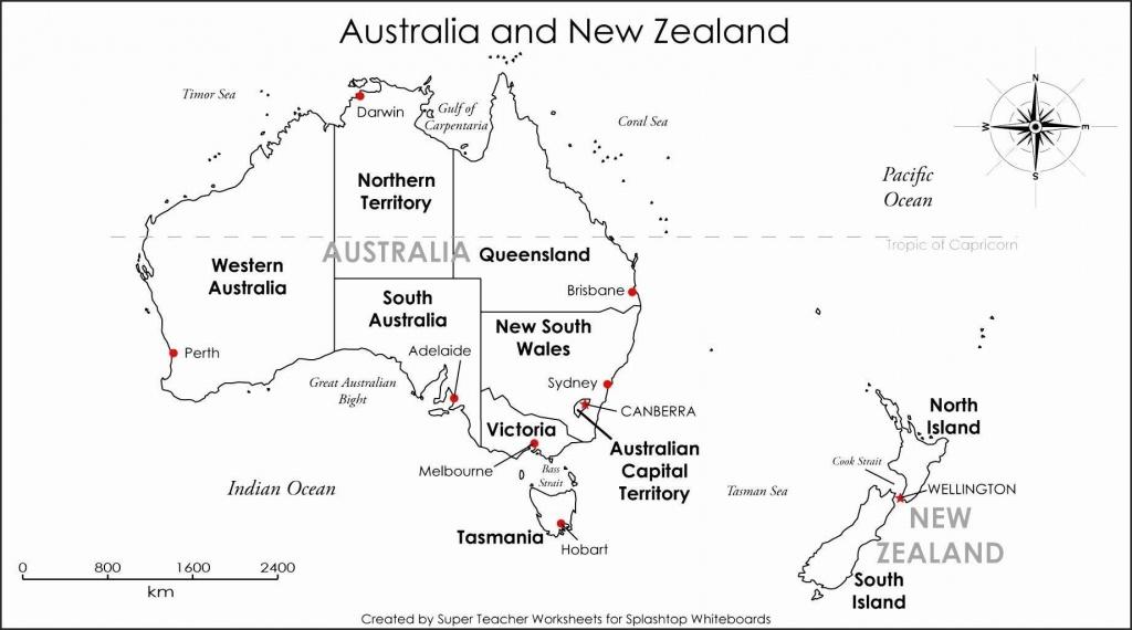 Printable Blank Map Australia Diagram Inside Of Noavg Me With States - Printable Map Of Australia With States