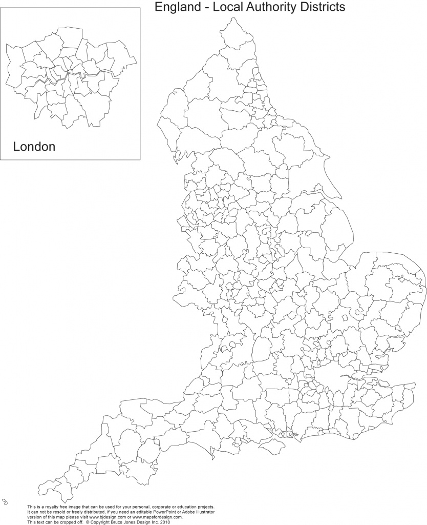 Printable, Blank Uk, United Kingdom Outline Maps • Royalty Free - Free Printable Map Of England