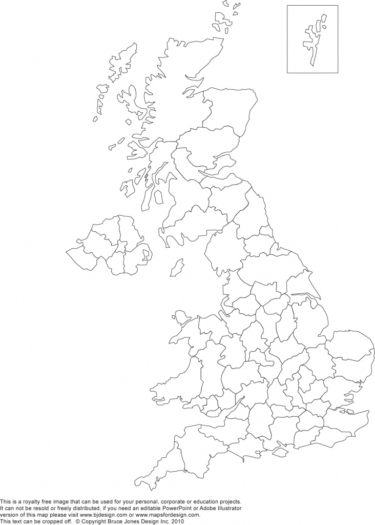 Printable, Blank Uk, United Kingdom Outline Maps • Royalty Free - Printable Map Of Great Britain