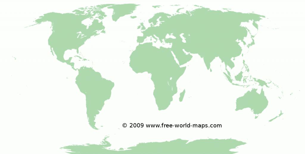 Printable Blank World Maps | Free World Maps - Blackline World Map Printable Free