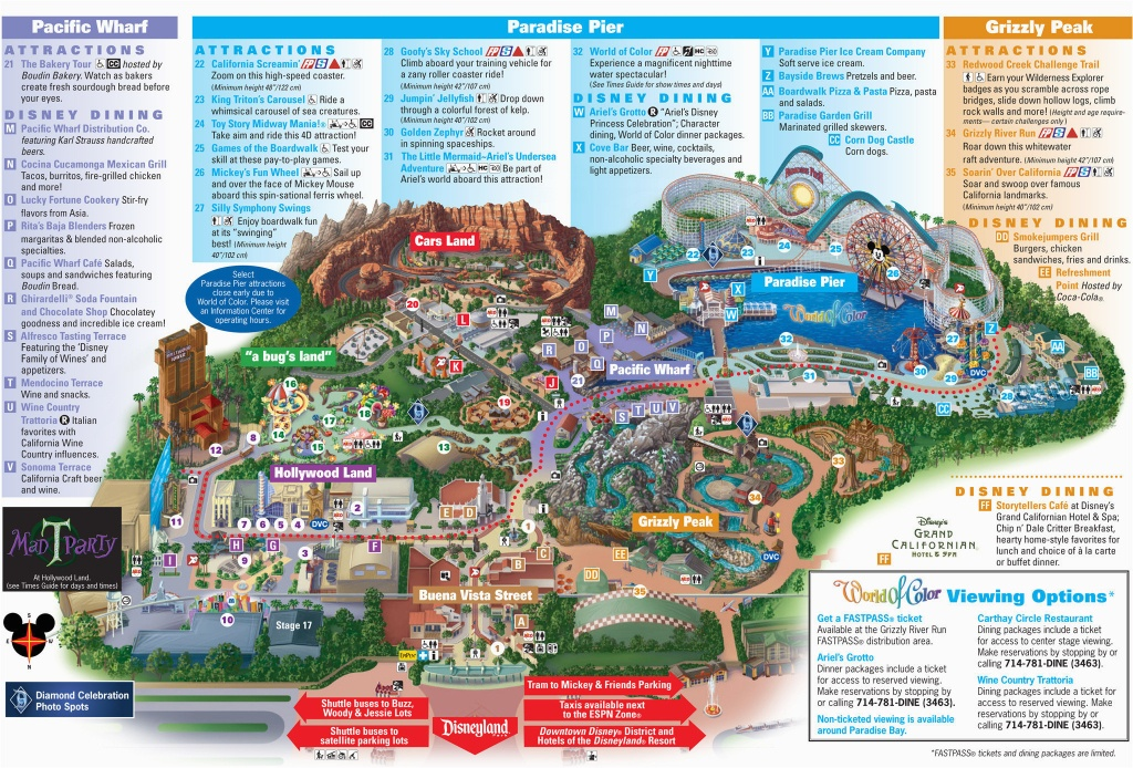 Printable California Adventure Map | Secretmuseum - Printable Map Of Disneyland And California Adventure