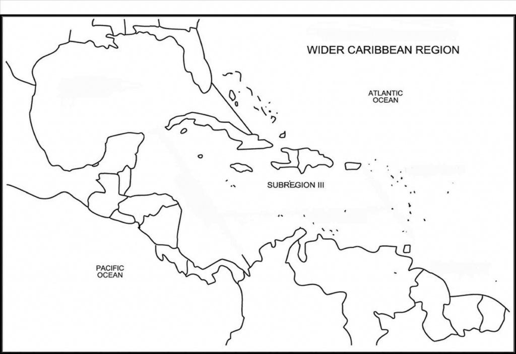 Printable Caribbean Islands Blank Map Diagram Of Central America And - Printable Blank Caribbean Map