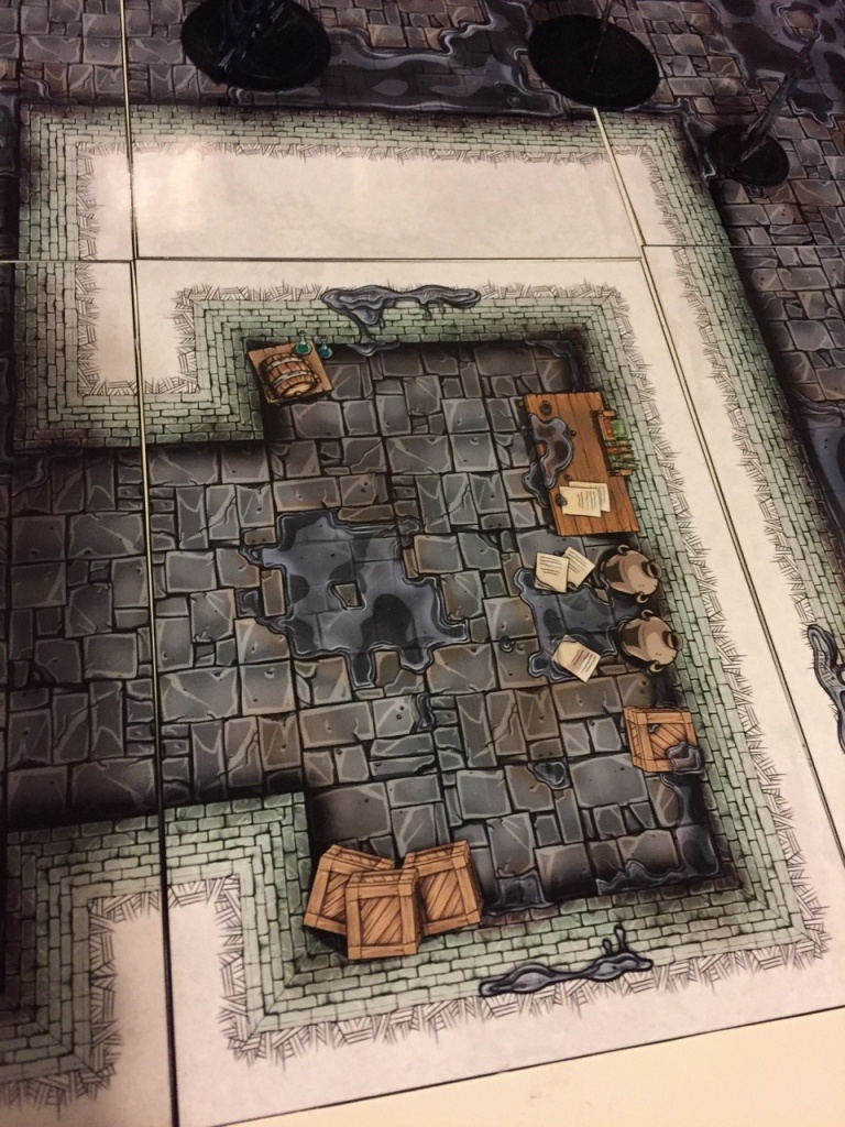 Printable Heroes — Test Print Of Another Ooze Covered Dungeon Map - Printable D&d Map Tiles