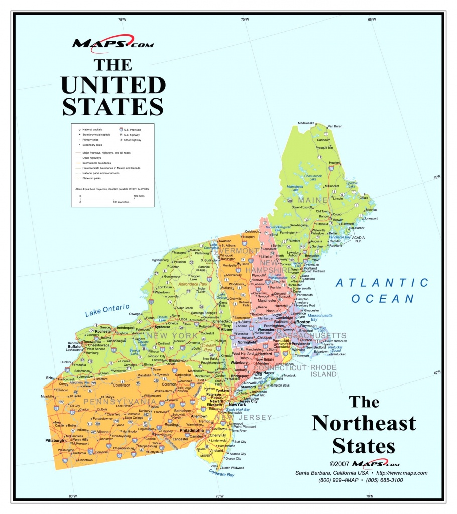 Printable Map Northeast Region Us America Pathwayto Me With Of North - Printable Map Of The Northeast