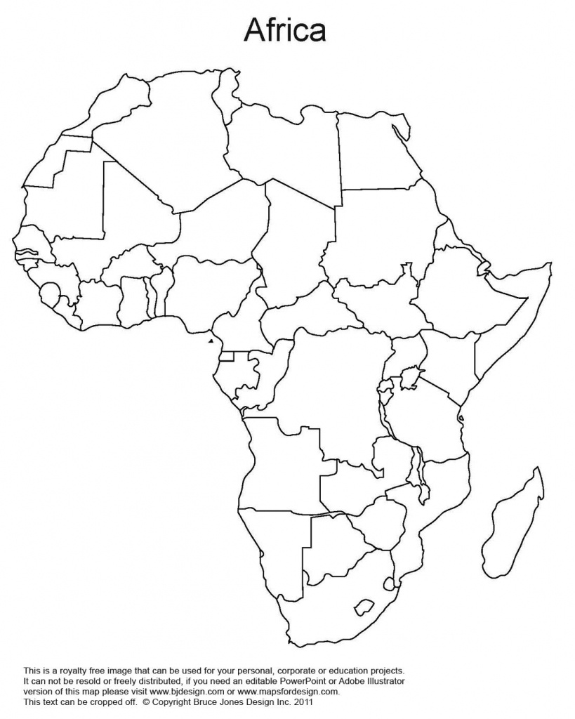 Printable Map Of Africa | Africa World Regional Blank Printable Map - Africa Outline Map Printable