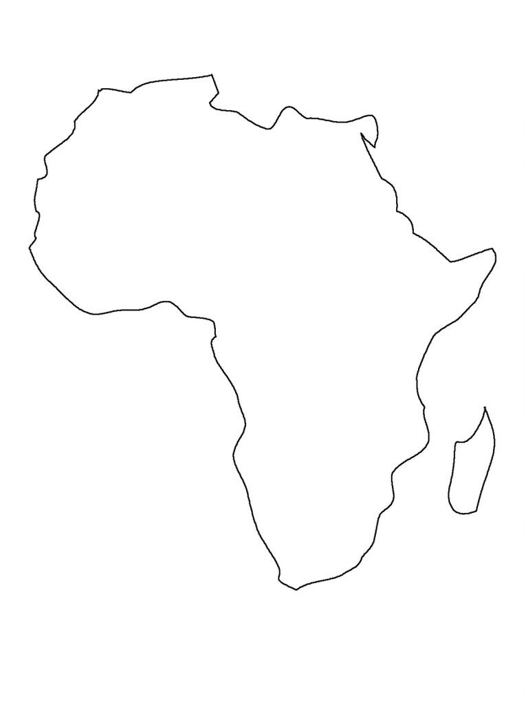 Printable Map Of Africa | Preschool | Africa Map, South Africa Map - Africa Outline Map Printable
