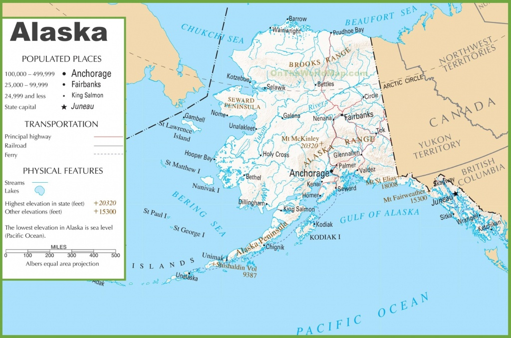 Printable Map Of Alaska And Travel Information | Download Free - Alaska State Map Printable
