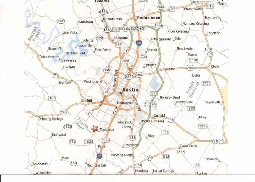 Printable Map Of Austin Texas And Surrounding Cities Neighborhoods - Printable Map Of Austin