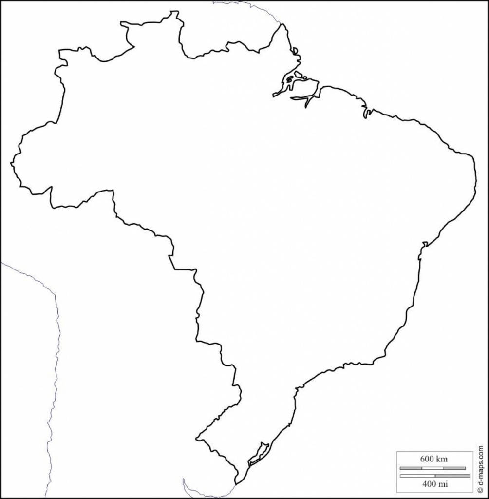 Printable Map Of Brazil - Free Printable Map Of Brazil (South - Free Printable Map Of Brazil