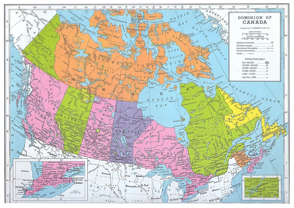 Printable Map Of Canada And Travel Information | Download Free - Free Printable Map Of Canada For Kids