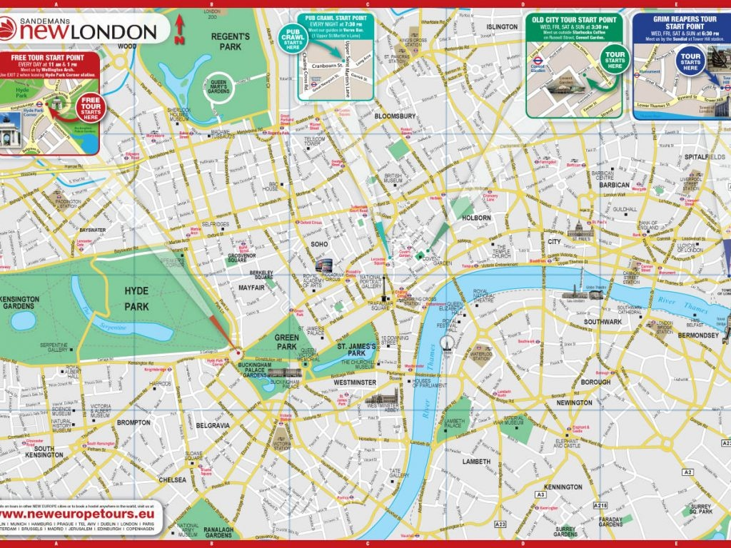 Printable Map Of Central London Download Printable Map Central - Printable Map Of London England