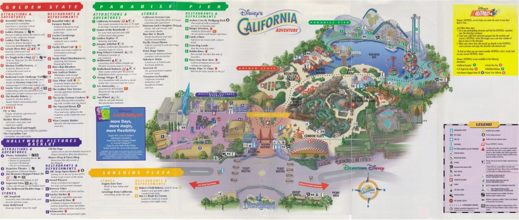 Printable Map Of Disneyland And California Adventure Printable Map - Printable California Adventure Map