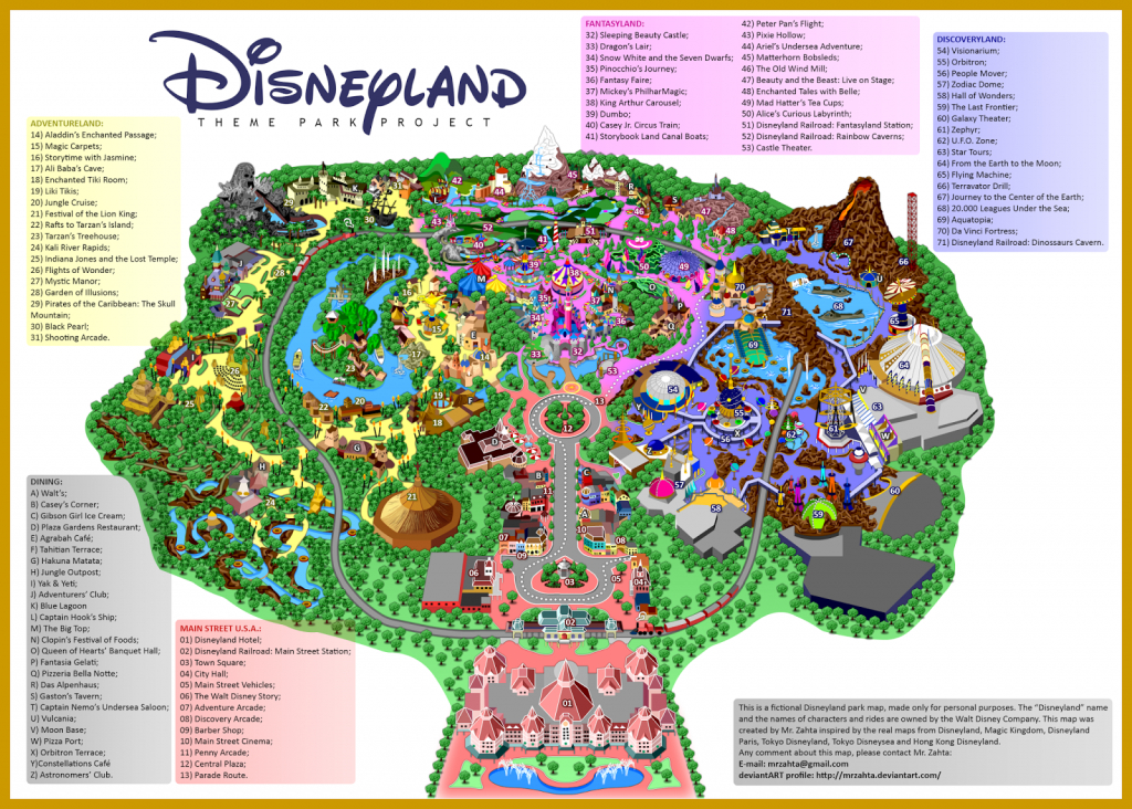 Printable Map Of Disneyland Paris Park Hotels And Surrounding Area Pdf - Printable Disneyland Map