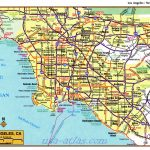 Printable Map Of Downtown Los Angeles And Travel Information   Printable Map Of Los Angeles
