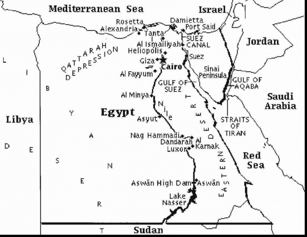 Printable Map Of Egypt And Travel Information | Download Free - Printable Map Of Egypt