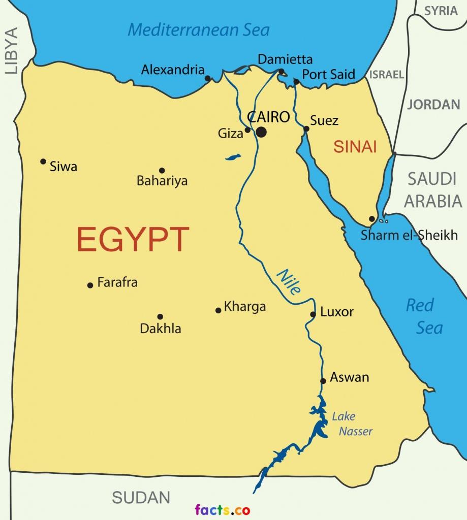 Printable Map Of Egypt - Map Of Egypt Printable (Northern Africa - Printable Map Of Egypt