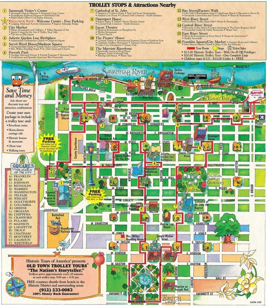 Printable Map Of Historic Savannah   Reasons Why Savannah Is The - Printable Map Of Savannah Ga Historic District