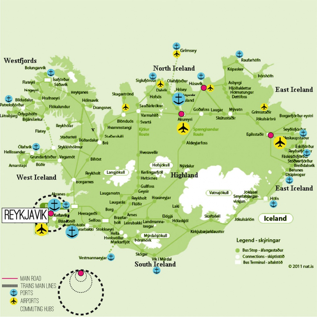 Printable Map Of Iceland And Travel Information | Download Free - Printable Tourist Map Of Iceland