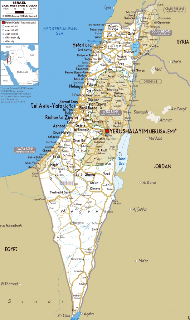 Printable Map Of Israel And Travel Information | Download Free - Printable Map Of Israel Today