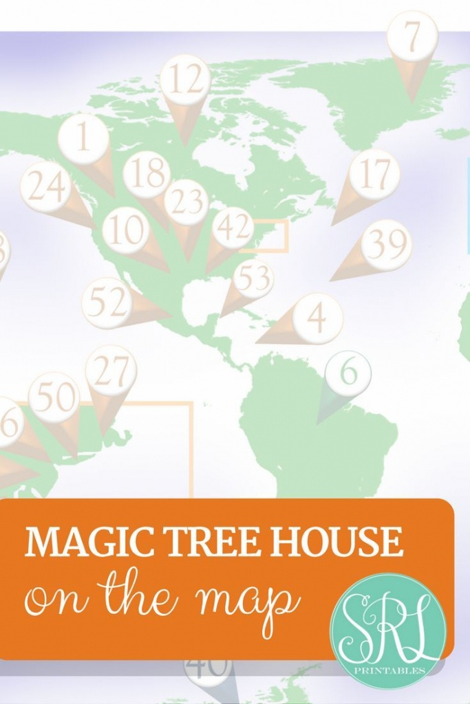 Printable Map Of Magic Tree House Books! Read Around The World With - Printable Tree Map