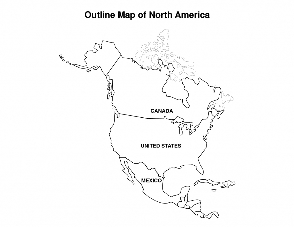 Printable Map Of North America | Pic Outline Map Of North America - Blank Map Of North America Printable