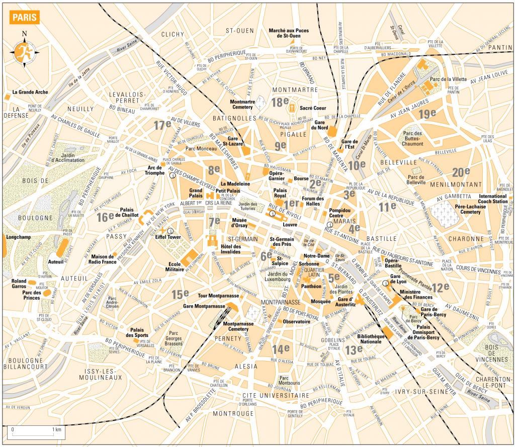Printable Map Of Paris France | D1Softball - Printable Map Of Paris France