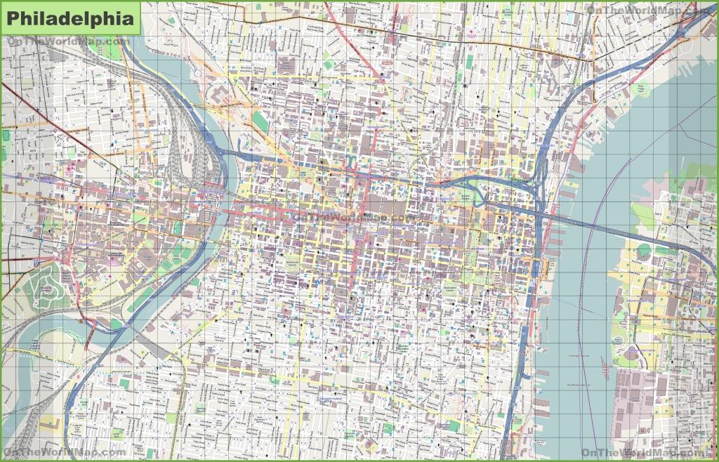 Printable Map Of Philadelphia And Travel Information | Download Free - Printable Map Of Historic Philadelphia
