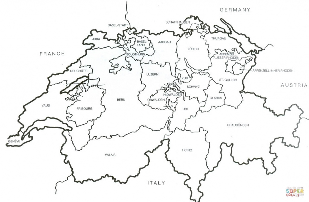 Printable Map Of Switzerland And Travel Information | Download Free - Printable Map Of Switzerland
