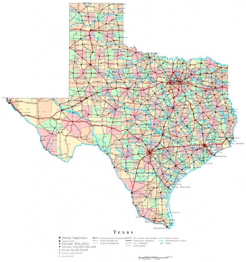 Printable Map Of Texas   Useful Info   Printable Maps, Texas State - Free Printable Road Maps
