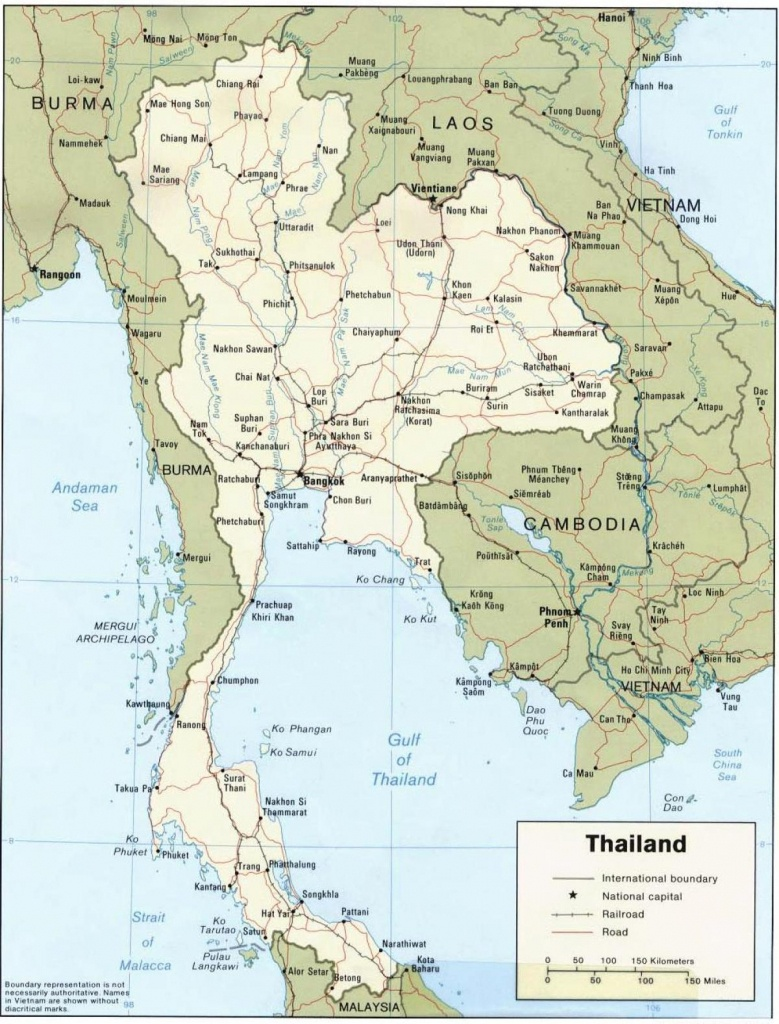 Printable Map Of Thailand - Map Of Thailand Printable (South-Eastern - Printable Map Of Thailand
