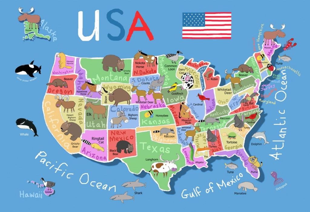 Printable Map Of Usa For Kids   Its's A Jungle In Here!: July 2012 - Printable Maps For Children