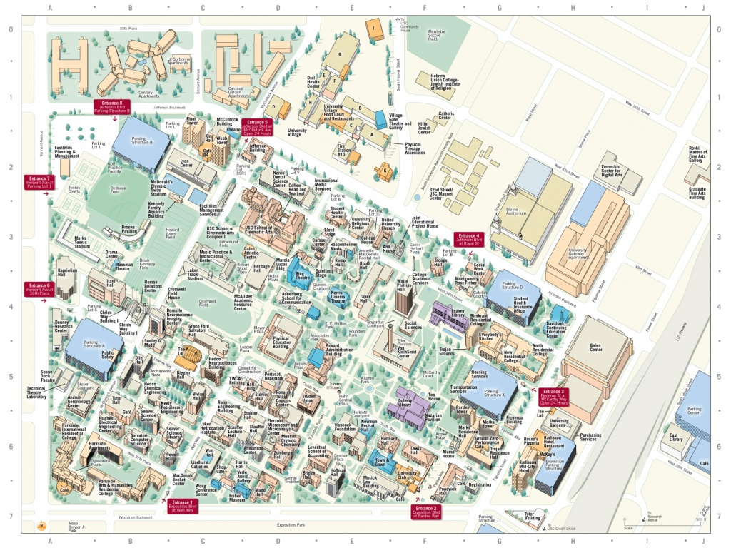 Printable Map Of Usc Campus - Usc Campus Map Printable