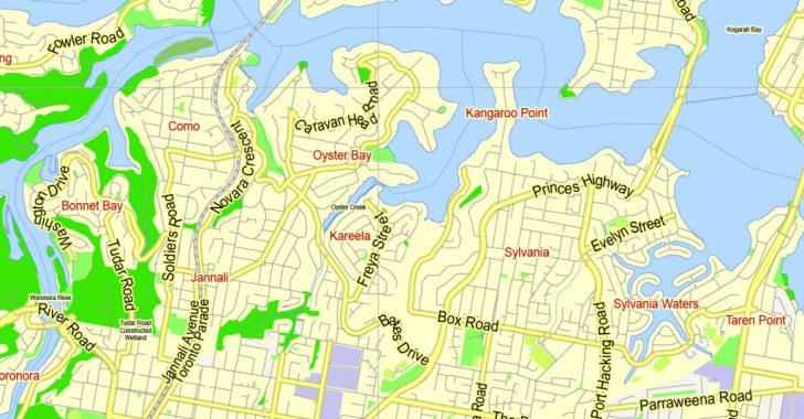 Sydney City Map Printable