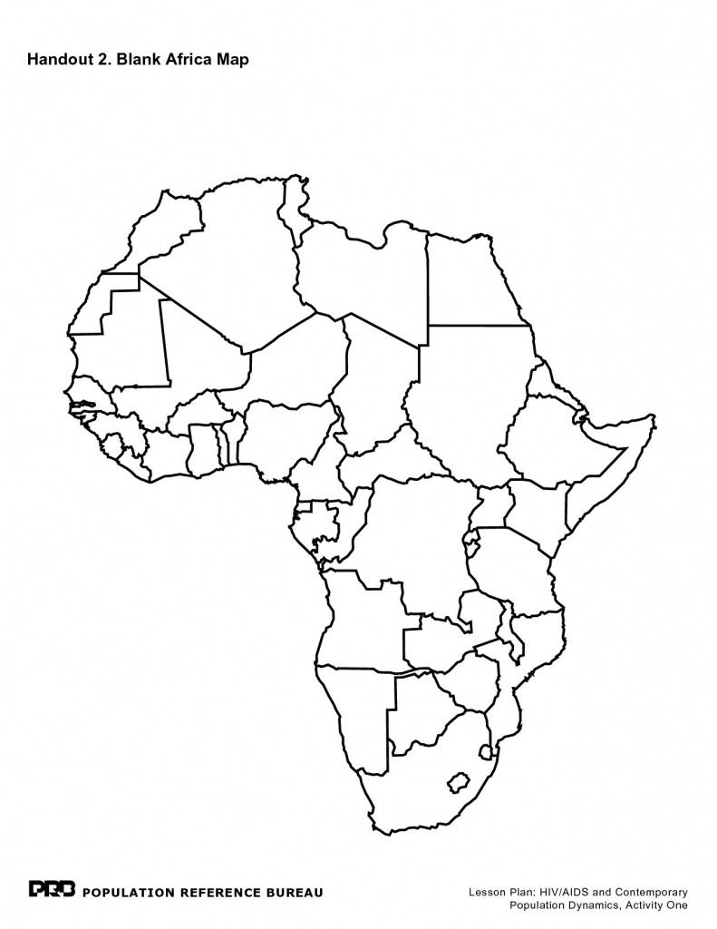 Printable Maps Of Africa - Maplewebandpc - Printable Blank Map Of Africa