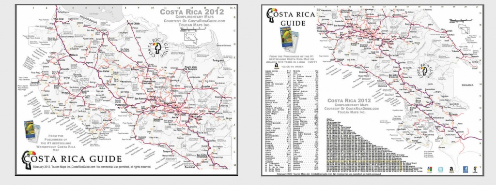 Printable Maps Of All Costa Rica & Details Maps Of Popular Destinations - Printable Map Of Costa Rica