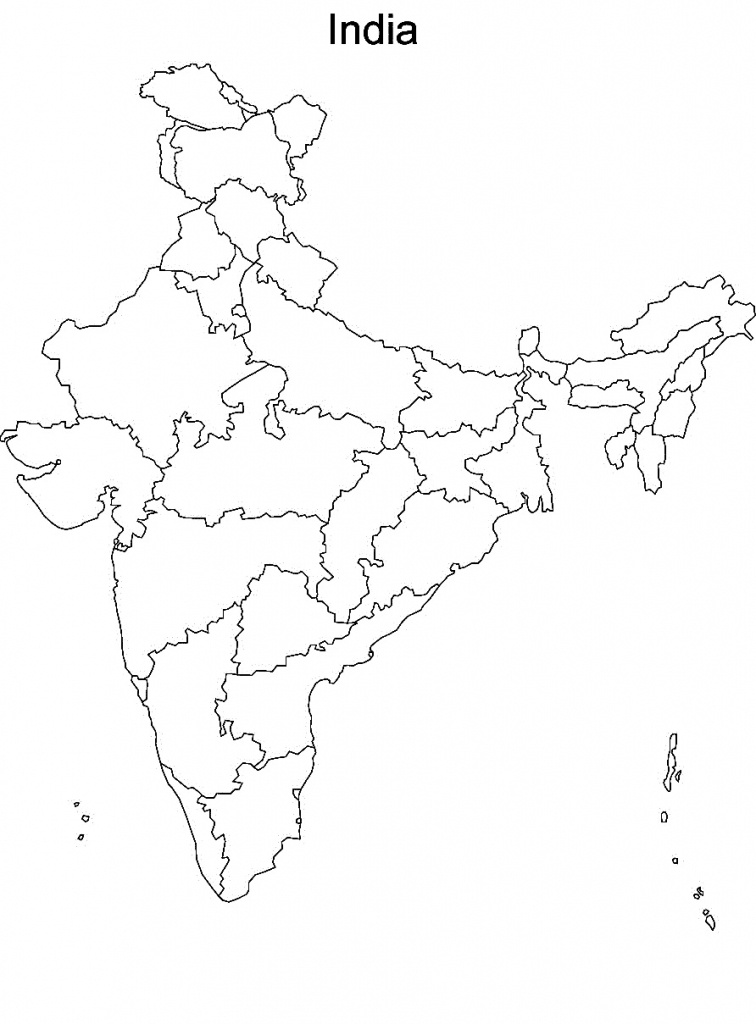 Printable Maps Of India And Travel Information | Download Free - Map Of India Blank Printable
