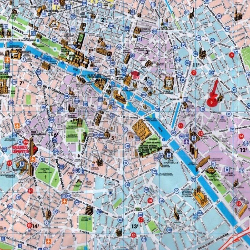 Printable Maps Of Paris 12 Map Com - Paris Tourist Map Printable