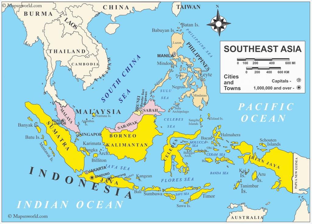 Printable Maps Of Southeast Asia | D1Softball - Printable Map Of Southeast Asia