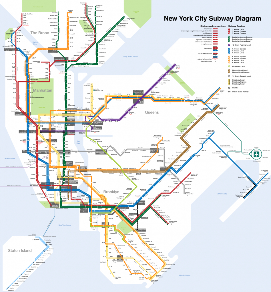Printable New York City Map | New York City Subway Map Page Below - Printable Nyc Subway Map