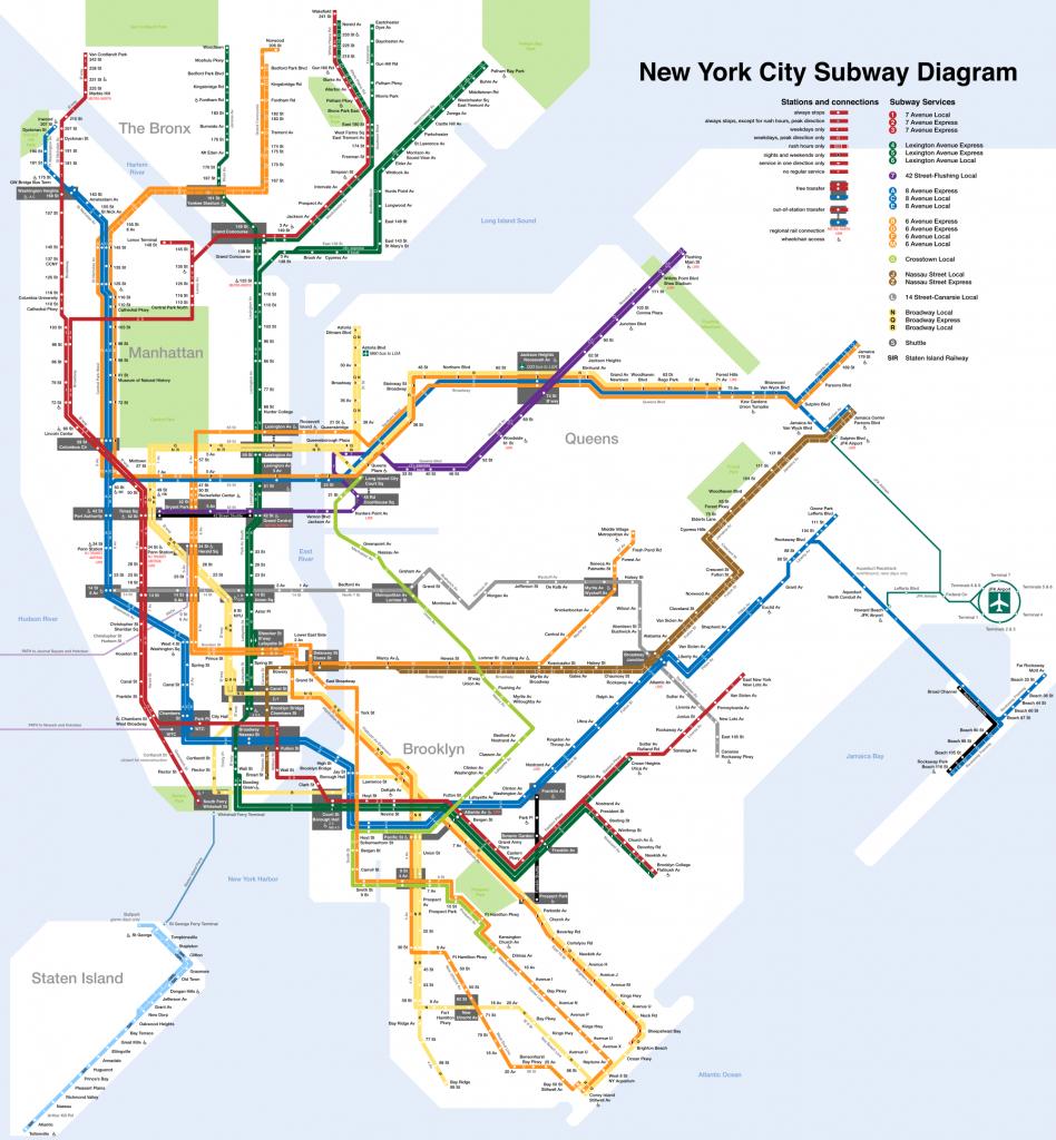 Printable New York City Map | New York City Subway Map Page Below - Printable Subway Map