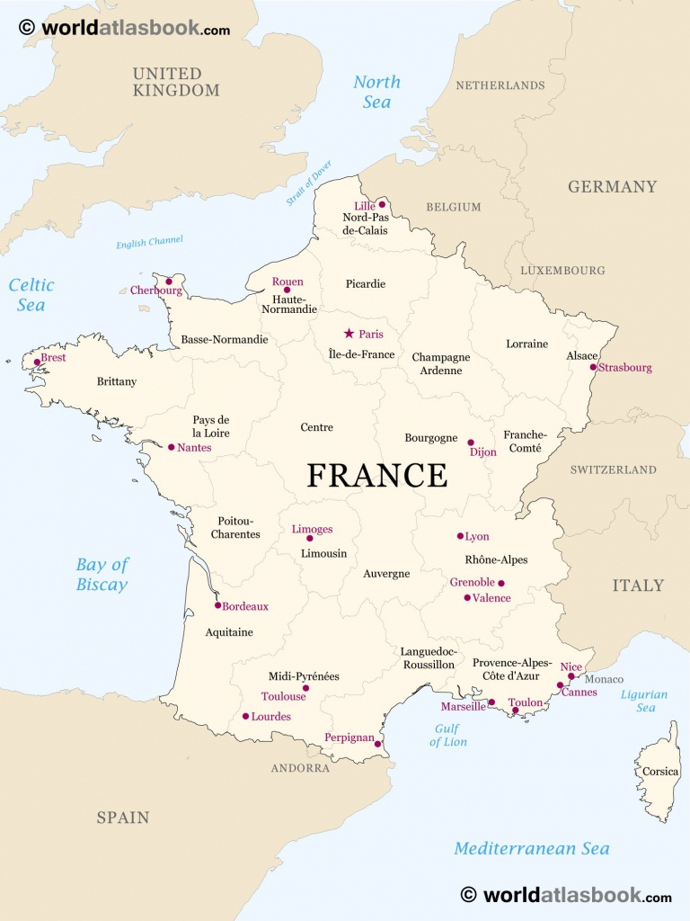 Printable Outline Maps For Kids | Map Of France Outline Blank Map Of - Printable Map Of France