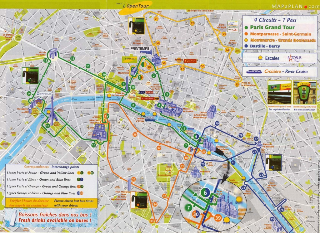 Printable Paris Tourist Map - Capitalsource - Printable Map Of Paris With Tourist Attractions