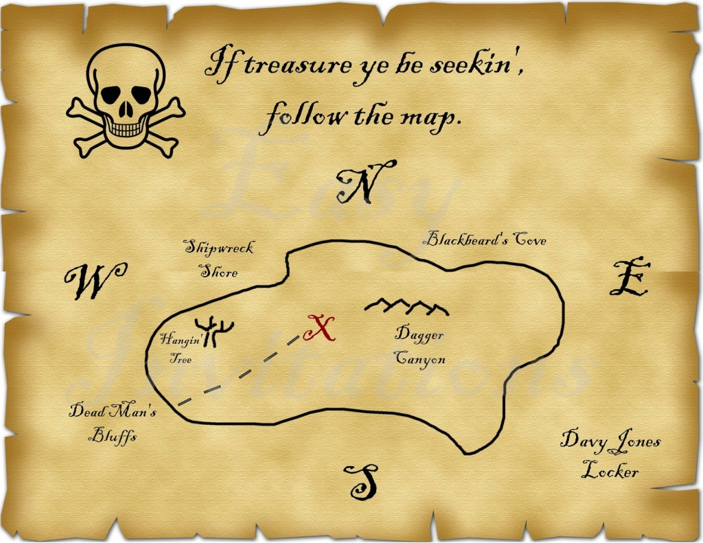 Printable Pirate Treasure Map Best Photos Of Template Blank - Blank Treasure Map Printable