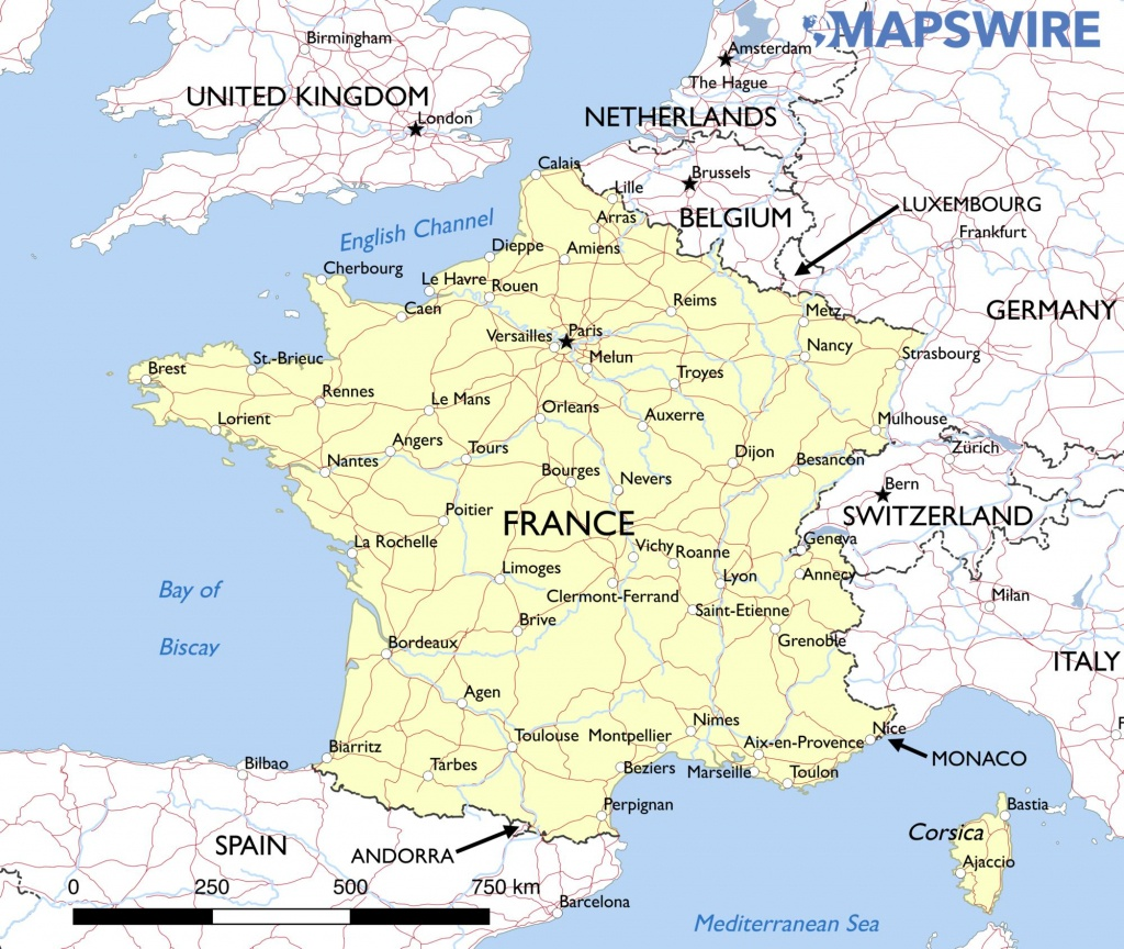 Printable Road Map Of France | Kameroperafestival - Printable Road Map Of France
