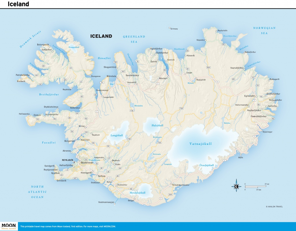 Printable Road Map Of Iceland And Travel Information | Download Free - Free Printable Travel Maps