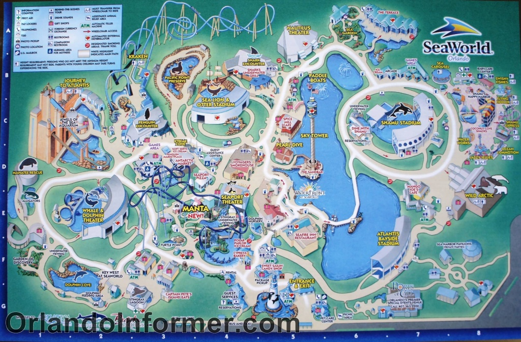Printable Seaworld Map | Scenes From Seaworld Orlando 2011 - Photo - Seaworld Orlando Park Map Printable