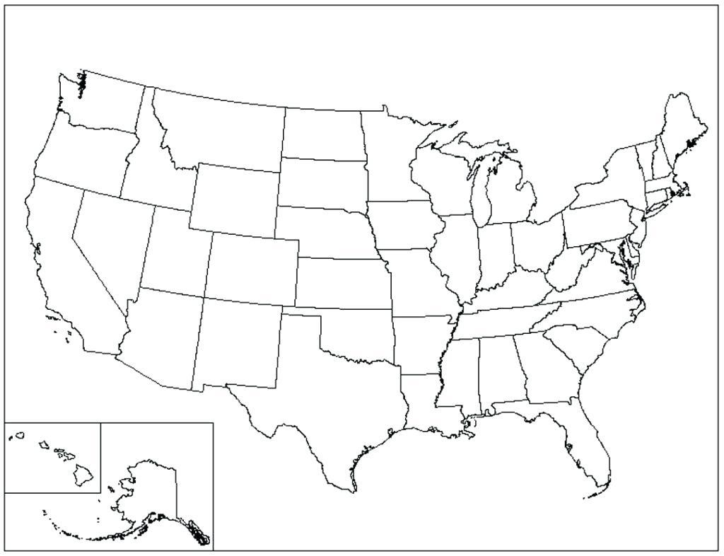 Printable State Outlines – Outingkin.club - Printable Blank Usa Map