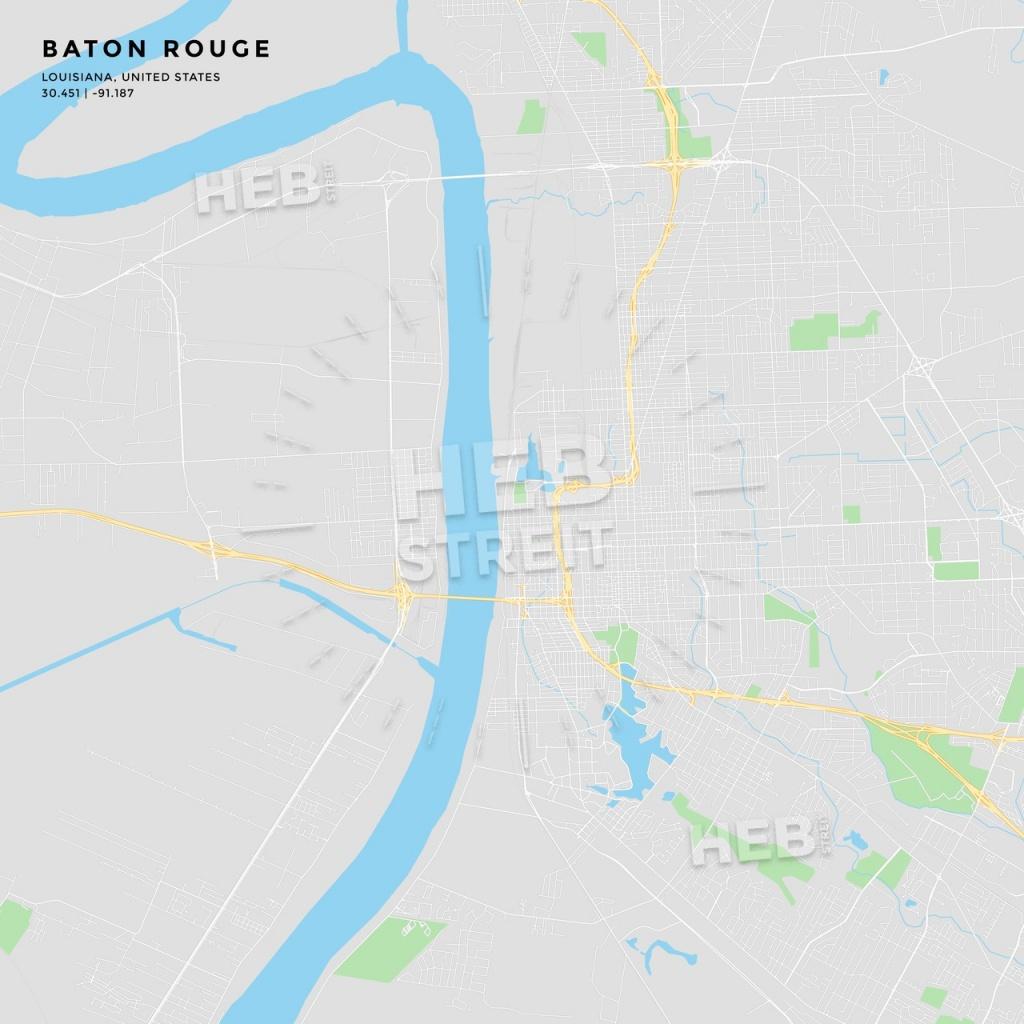 Printable Street Map Of Baton Rouge, Louisiana | Hebstreits Sketches - Printable Map Of Baton Rouge
