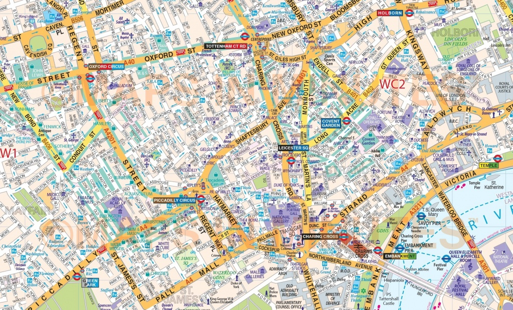 Printable Street Map Of Central London Within - Capitalsource - London Street Map Printable