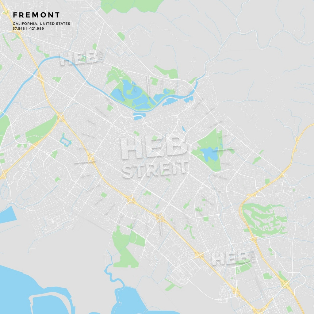 Printable Street Map Of Fremont, California | Hebstreits Sketches - Fremont California Map